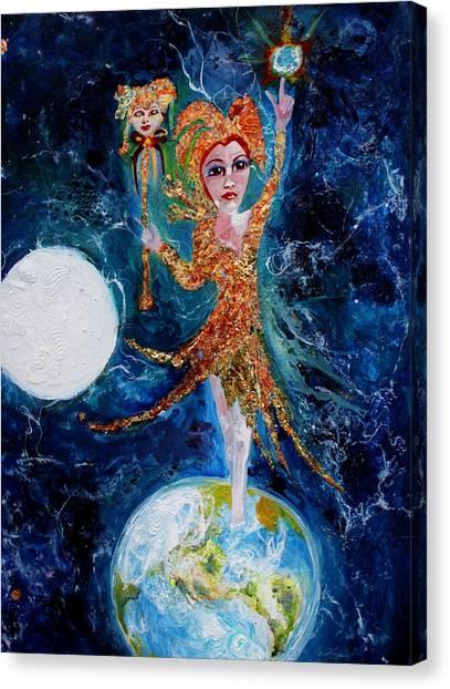 Cosmic  Fool Canvas Print by Mary Sonya  Conti
