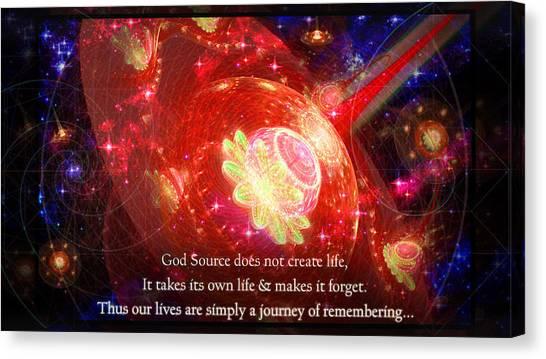 Cosmic Inspiration God Source 2 Canvas Print