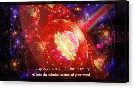 Canvas Print featuring the mixed media Cosmic Inspiration God Source by Shawn Dall