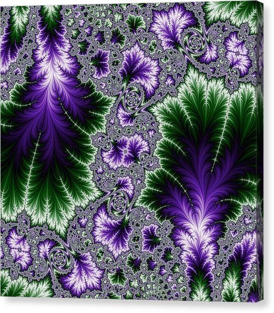 Cosmic Leaves Canvas Print