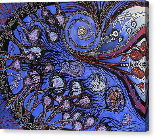 Cosmic Neural Network Canvas Print