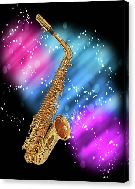 Cosmic Sax Canvas Print