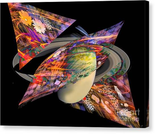 Canvas Print featuring the digital art Cosmic Sensation by Eleni Mac Synodinos