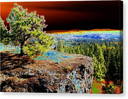 Cosmic Spokane Rimrock Canvas Print