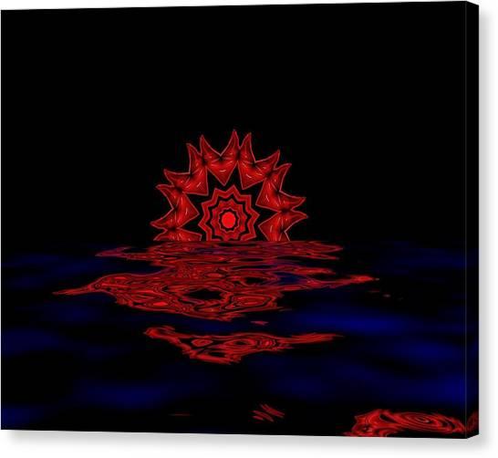 Cosmic Sun Set Canvas Print by John Mueller