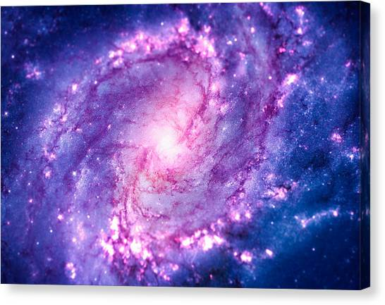 Spock Canvas Print - Cosmic Vacuum Cleaner Spiral Galaxy M83 by Philipp Rietz