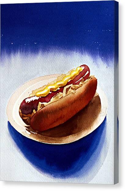 Cosmic Weenie Canvas Print by Eunice Olson