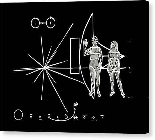Cosmos Greetings  Canvas Print