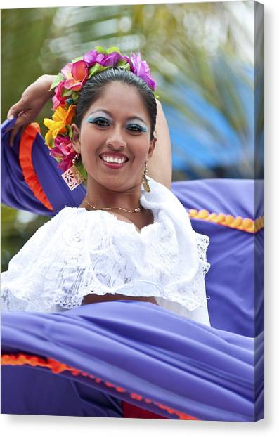 Costa Maya Dancer Canvas Print