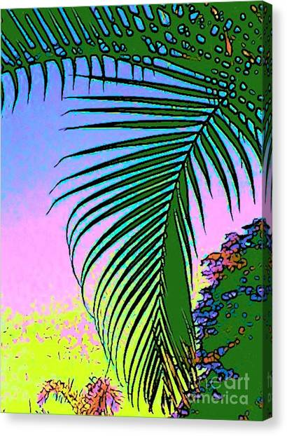 Costa Rica Palm Canvas Print by Lisa Dunn