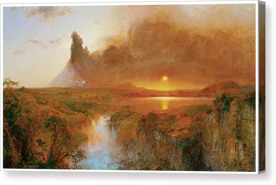 Cotopaxi Canvas Print - Cotopaxi by Frederick Edwin Church