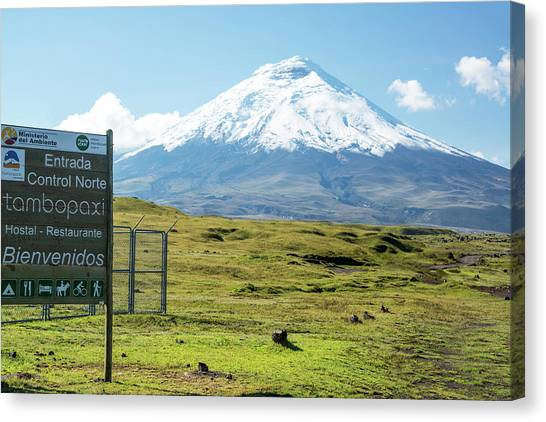 Cotopaxi Canvas Print - Cotopaxi National Park Entrance by Jess Kraft