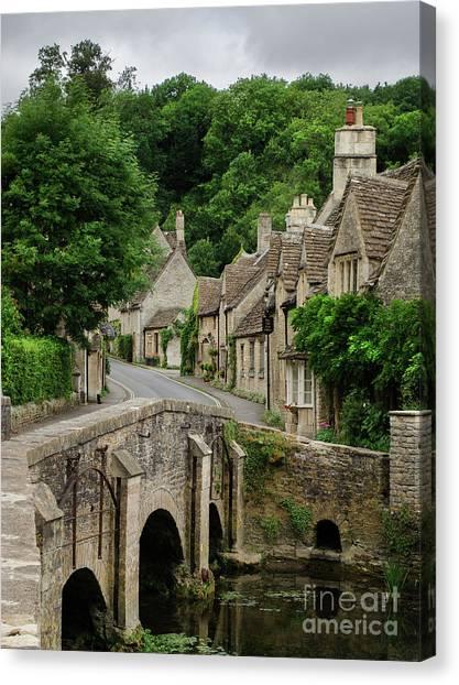 Cotswolds Village Castle Combe Canvas Print