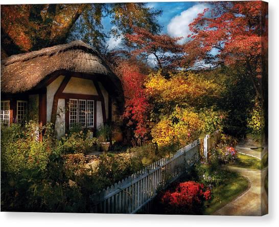 Grandma Canvas Print - Cottage - Grannies Cottage by Mike Savad