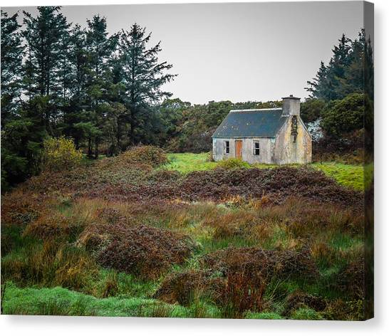 Cottage In The Irish Countryside Canvas Print