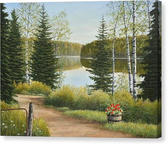 Cottage Lane Canvas Print
