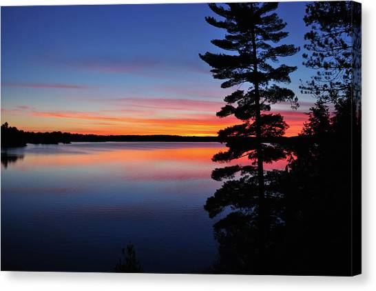 Cottage Sunset Canvas Print