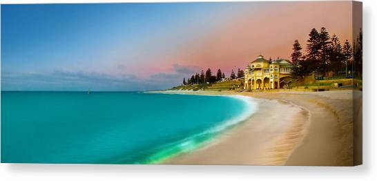 Sunrise Horizon Canvas Print - Cottesloe Beach Sunset by Az Jackson