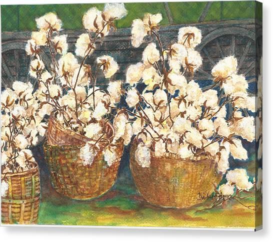Cotton Basket Canvas Print