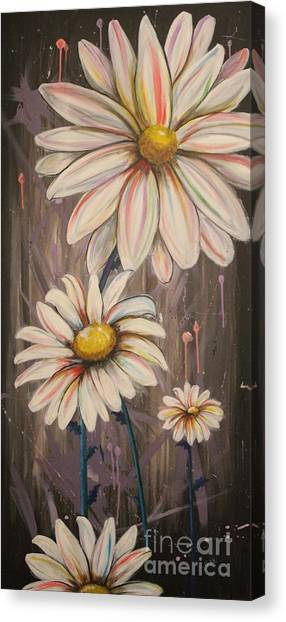 Cotton Candy Daisies Canvas Print
