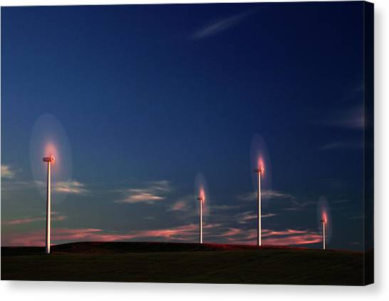 Wind Farms Canvas Print - Cotton Candy by Todd Klassy