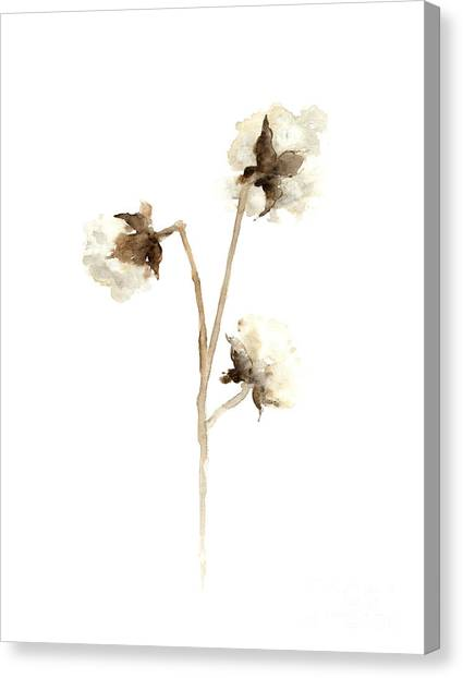 Flower Canvas Print - Cotton Fine Art Print by Joanna Szmerdt