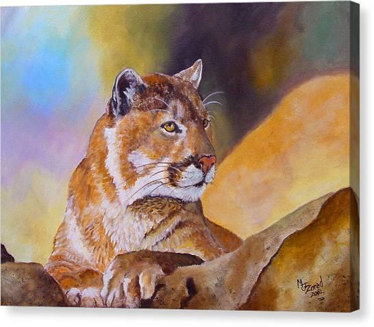 Cougar Wildlife Canvas Print