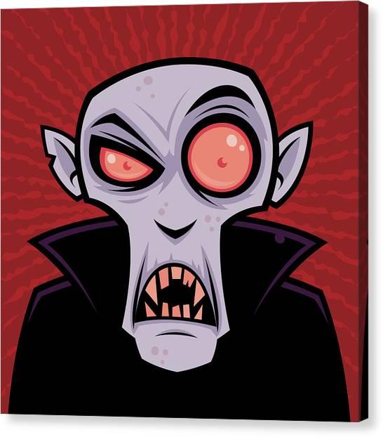 Monsters Canvas Print - Count Dracula by John Schwegel
