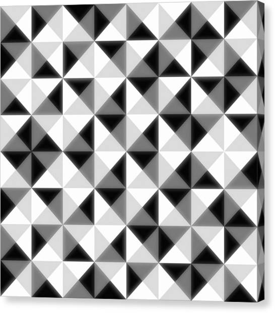 Black And White Canvas Print - Count The Squares by Ron Brown