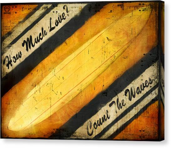 Count The Waves Canvas Print