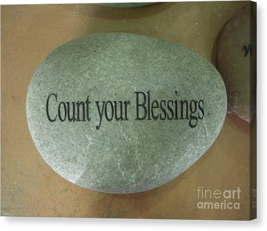 Count Your Blessings Canvas Print by Deborah Finley