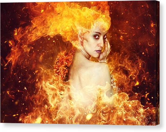 Fire Canvas Print - Countdown by Mario Sanchez Nevado