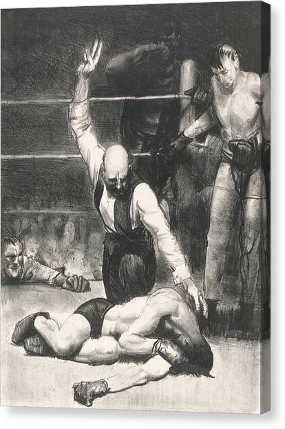 Knockout Canvas Print - Counted Out, Second Stone by George Bellows