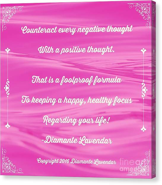 Counteract Every Negative Thought Canvas Print