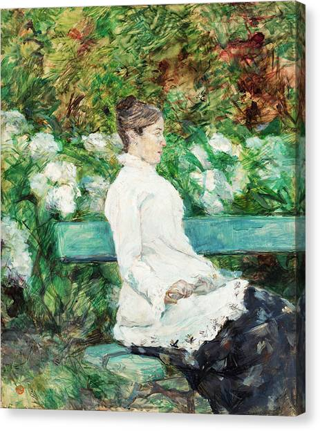 Adele Canvas Print - Countess Adele Of Toulouse-lautrec In The Garden Of Malrome by Henri de Toulouse-Lautrec