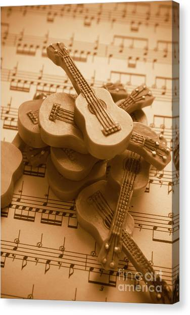 Stringed Instruments Canvas Print - Country And Western Guitars. Music Education by Jorgo Photography - Wall Art Gallery