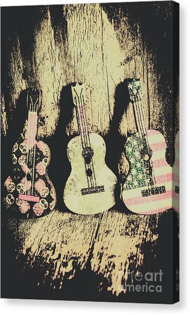 Musical Instrument Canvas Print - Country And Western Saloon Songs by Jorgo Photography - Wall Art Gallery