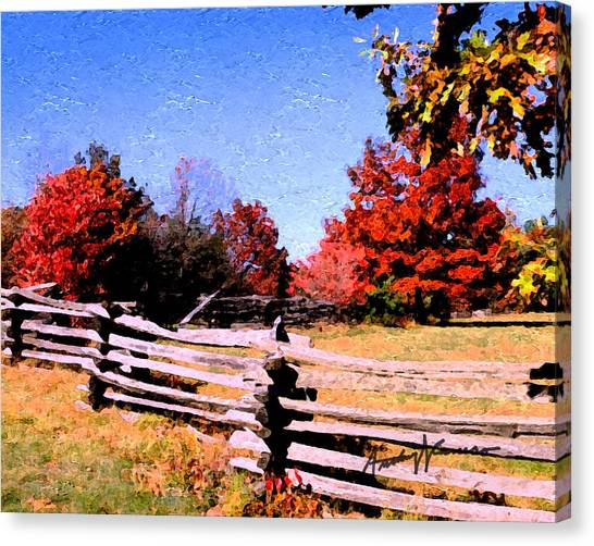 Country Autumn Canvas Print by Anthony Caruso