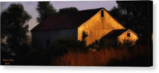 Country Barn Canvas Print by Brian Fisher