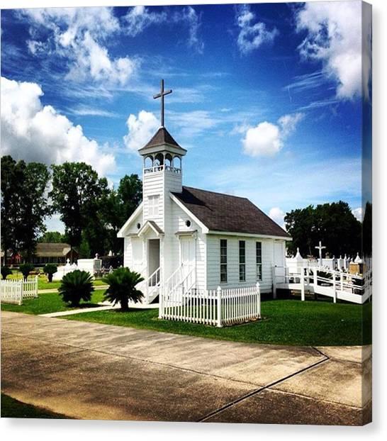 Religious Canvas Print - Country Chapel #love #church #louisiana by Scott Pellegrin