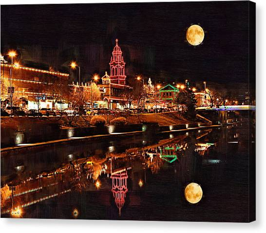 Missouri Canvas Print - Country Club Plaza Lights Kansas City Missouri by Joseph Ventura