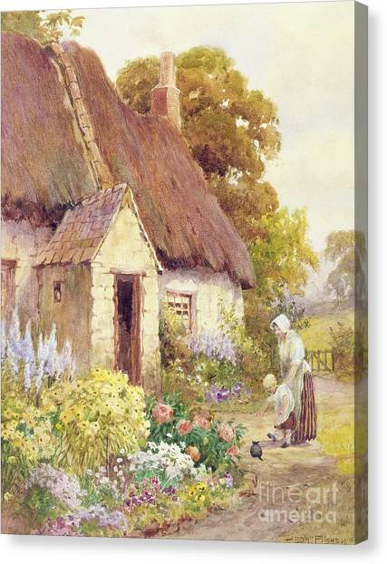 Country Canvas Print - Country Cottage by Joshua Fisher