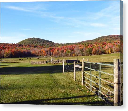 Country Farm And Family Plot Canvas Print