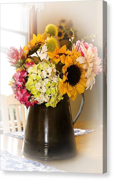 Country Flower Bouquet Canvas Print