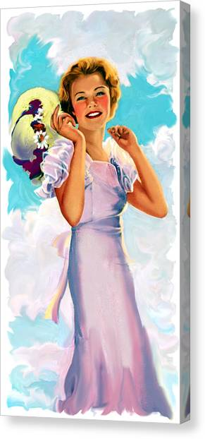 Country Girl Canvas Print by Lash Larue
