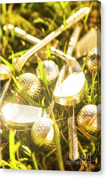 Golfers Canvas Print - Country Golf by Jorgo Photography - Wall Art Gallery