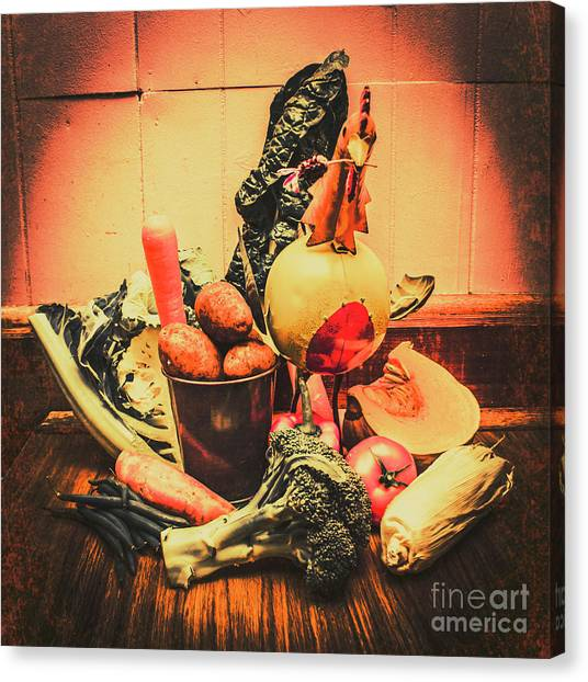 Organic Canvas Print - Country Kitchen Art by Jorgo Photography - Wall Art Gallery
