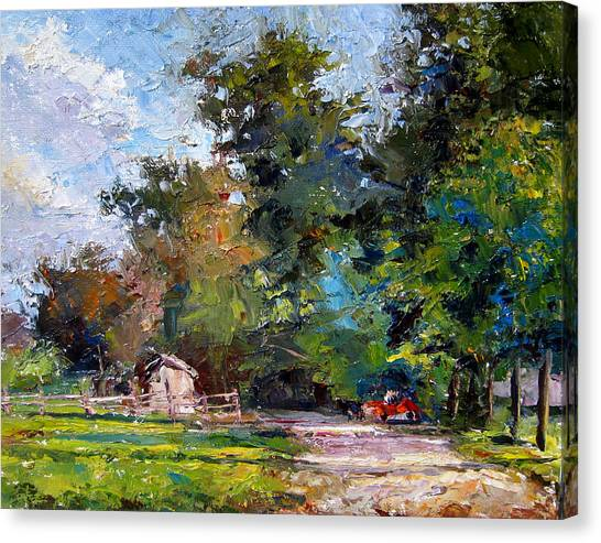 Country Lane Canvas Print by Mark Hartung