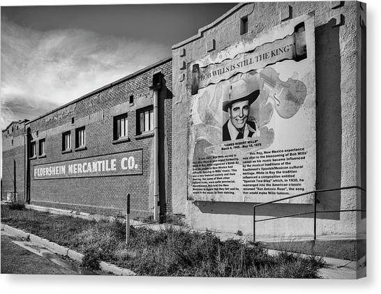 Country Legend Bob Wills In Roy New Mexico Canvas Print