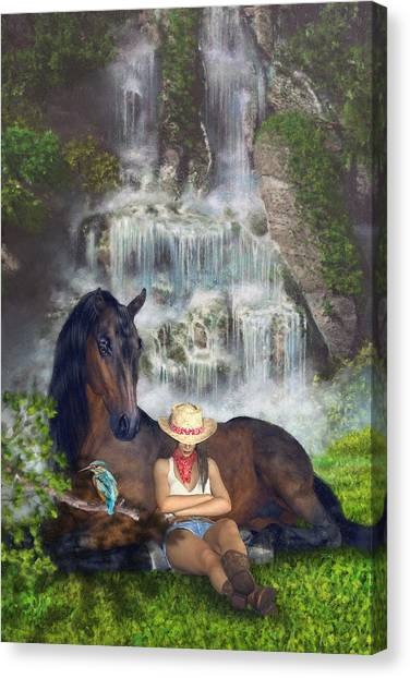 Canvas Print featuring the digital art Country Memories 1 by Uwe Jarling